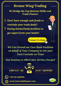 Have a look at the infographics presented by Bronze Wing Trading L.L.C. to know the different types of trade finance facilities available for importers & exporters. Do you have any trade deal pending due to lack of finance? Discuss with us today &...
