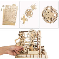 3D Assembly Wooden Puzzle,Mechanical Gears Set,Brain Teaser,Educational Game $89.80
