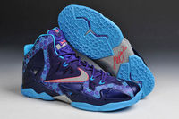 Vivid Blue Court Purple and Reflective Silver Colorway Mens LeBron James Basketball Shoes 11 Summit Lake Hornets