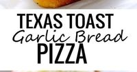 This is the easiest pizza I've ever made and it comes together in 5 minutes. It takes just as long as the Texas Toast takes to cook in the oven. Top with y