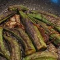 Easy Indian Style Okra - I made this tonight! Yum! Instead of cooking in a skillet, I drizzled with olive oil (instead of butter) and roasted it in the oven (425 degrees) for 18 minutes. I will make this again!