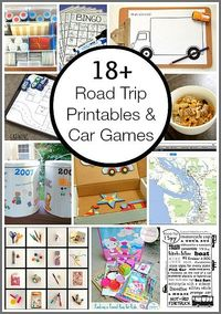 Awesome resource for upcoming trips! (18+ Free Road Trip Printables & Car Games for Kids)