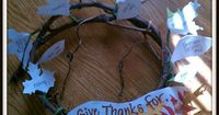 """A thankful wreath... this might be my answer since I couldn't find just the """"right"""" branch for a thankful tree"""