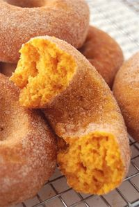 Recipe For Pumpkin Doughnuts - Baked to Perfection - If you don't have doughnut pans, you can bake these in a couple of standard muffin tins. �€œThose pumpkin doughnuts. The. Best.�€