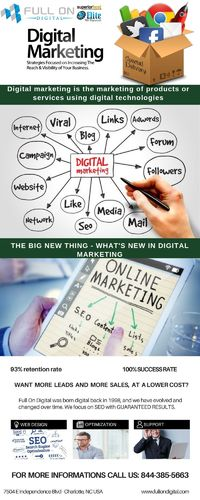 Full on Digital offers the Full web design service available by Best web Design Experts Charlotte NC. We provide complete set of services like SEO, Reputation Management, Social Media Management, & Local Business Marketing located in Charlotte, NC. Se...