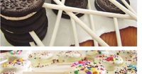 These could be a great idea for a kids bday treat in lieu of traditional cake. Everyone can customize their treat with chocolate dips and sprinkles!