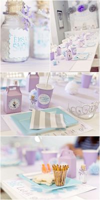 Host a Frozen Themed Birthday Party with all the details from decorations to favors and party food to match the Frozen Theme!