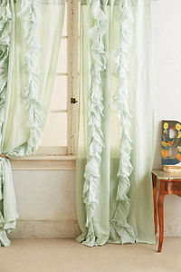 Wandering Pleats Curtain in Mint Green