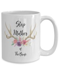 Step mother of the bride White Ceramic Coffee Mug |Wedding Gift | Engagement Gift | Anniversary| Newly Weds| Couple| Bride| Groom| $17.45