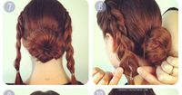 Braided bun easy hair tutorial. I think this is one I can actually do!