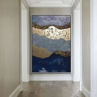 Gold Navy hand made Abstract stone picture art acrylic large paintings on canvas original wall pictures quadro home decor cuadros abstractos $139.00