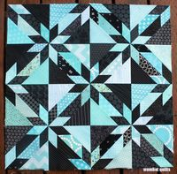 hunter star wip from Wombat Quilts