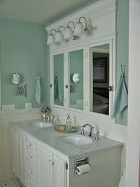 DIY Bathroom Remodel #marble #bathroom featured on Remodelaholic.com