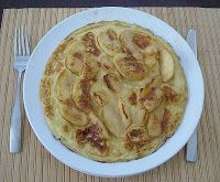 German Apple Pancakes   25 German apple pancakes or �€œApfelpfannekuchen�€ in German, are great for a sweet supper or as part of a Sunday brunch. German apple pancakes are thinner than the American pancakes. If you want to make them use ...