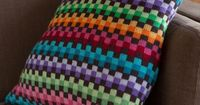 Missoni inspired pillow done in Dale Baby Wool. Gorgeous!