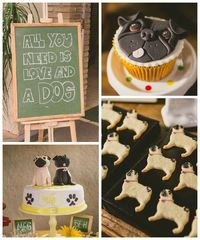 This fabulous PUG INSPIRED DOG PARTY was submitted byDiego Segura of Diego Segura Festas. What a fun party! I love all of the cute Pug/ Dog themed desserts in i