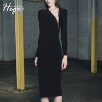 Sexy Seen Through Attractive Slimming Fall 9/10 Sleeves Formal Wear Dress Basics - Bonny YZOZO Boutique Store
