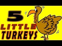 """Five Little Turkeys is from Children's Favorites Autumn Songs & Fingerplays. Young children enjoy familiar """"to the tune of"""" melodies because they are simple, FUN and easy to learn. Besides being a favorite Thanksgiving Day song for kiddo&#..."""