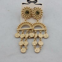 MOSCHINO BAROQUE COINS EARRINGS GOLD