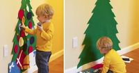 Felt Christmas tree that a toddler can decorate over and over and leave the real one alone! -- my in-laws did this for the girls, and it was definitely a HIT!!