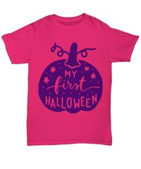 My first halloween halloween light unisex t-shirt $20.95