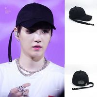 New BTS LOVE YOURSELF Answer concert SUGA same rivet long baseball cap baseball hat black peaked cap $19.00