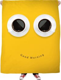 ROFB GOod Morning Fleece Blanket $65.00