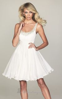 Ivory Sleeveless Scoop Neckline Homecoming Dress by NightMoves by Allure