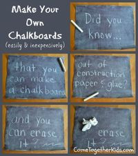 DIY Chalkboard! Awesome idea!