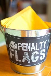 This outrageous GAME TIME FOOTBALL THEMED BIRTHDAY PARTY was submitted by Valerie Gimre of Charming Touch Parties. What a fun party theme for twin boys! There a