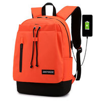 Oxford Backpack with USB Charging Port Student School Bag Fashion Shoulder Bag for Ipad Laptop Bag
