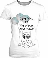 To The Moon Owl Womens T-Shirt $43.95