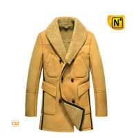 Mens Leather Shearling Coat CW851423