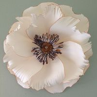 Tiger Flower. Paper Flower sculpture ...congratulations to my friend who is off to join the Princeton Tigers!