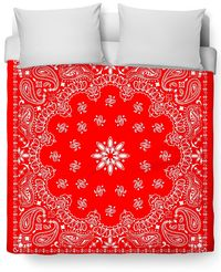 Red Bandana Duvet Cover $120.00