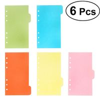Price: $22.98 | Product: 6pcs A5 Dividers 6 Holes Ring Colored Notebook Binders Divider | Visit our online store https://ladiesgents.ca