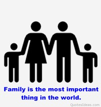 Inspiring family quote with image