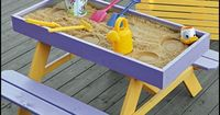 Want to give your kids a sandbox or a sandpit, but don't have room for it at home? If you do, you can build them this 2-in-1 picnic table and sandbox combo! http://diyprojects.ideas2live4.com/2016/04/14/how-to-build-a-kids-picnic-table-and-sandbox-com...