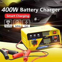 400W Car Battery Charger 12V/24V Multi-function Universal Full Intelligent High-Power Battery Charger