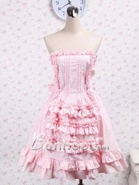 Light Pink Straps Big Bow Sweet Lolita Dress