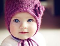 blue eyes, knit hats and hats.