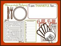 Autumn inspiration and Thanksgiving Roundup | MADE Thanksgiving placemat printable