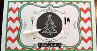 Free Printable Child's Chalkboard Christmas Placemat- {The Creativity Exchange}