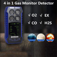 4 in 1 Gas Detector CO O2 H2S EX Oxygen Gas Alarm Monitor Time Temperature Mete