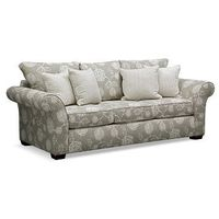 One and Only. Just one look is all you need to fall in love with the sweet and elegant design of the Adele sofa. The neutral color palette is anything but bland thanks to the combination of floral, striped and geometric maze patterns. Flared roll arms and...