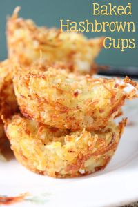 Cheesy and crispy hash browns baked to a golden brown are perfect for your next breakfast! These Baked Hash Brown Cups will go with anything you have prepared.