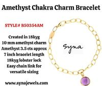 Do you want to buy the most stunning Amethyst Chakra Charm bracelet online in NJ, USA at the best prices to boost your wrist sculpt? If yes, Syna Jewels has the best solutions for you. Check out our website to buy beautiful jewelry online at the best pric...
