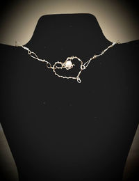 Gold Heart and Pearl Choker $10.00