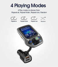 Bakeey 2.4A QC3.0 LED Display Hand-free MP3 Player bluetooth FM Transmitter Fast Charging Car Charger For iPhone XS XR 11 Pro Huawei P30 Pro Mate 30 S10+ Note 10