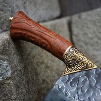 Traditional Chinese Cleaver Hand Forged Chef Knife Rosewood Handle ILS635.00